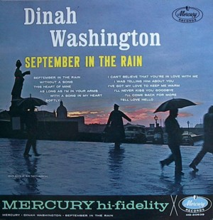 Dinah washington [SEPTEMBER IN THE RAIN] MERCURY MG20638 SR60638