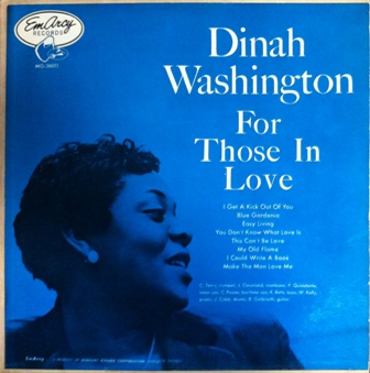 Dinah washington 「FOR THOSE IN LOVE」 EMARCY  MG36011